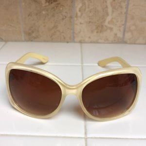 Accessories - Cream/yellow plastic sunglasses